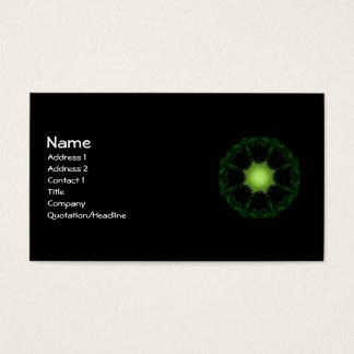 Gothic Fractals Glow In The Dark Business Card