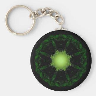 Gothic Fractals Glow In The Dark keychain