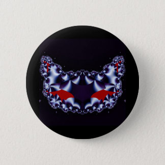 Gothic Fractals Satin Kitty button
