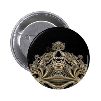 Gothic Fractals Skull King button
