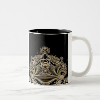 Gothic Fractals Skull King mug