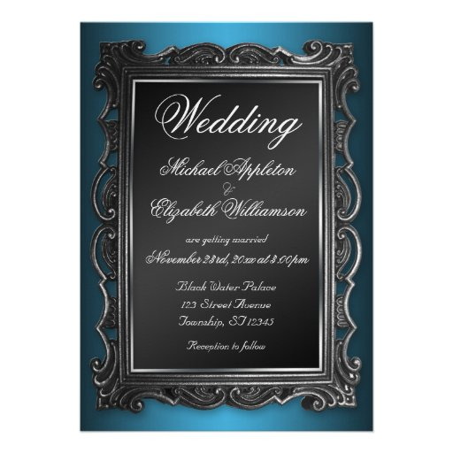 Gothic wedding invitations templates party invitations ideas for Free printable gothic wedding invitations