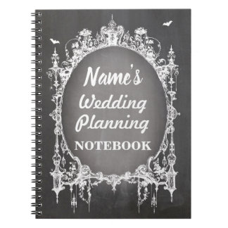 Gothic Frame Chalk Notebook Wedding Planning Note