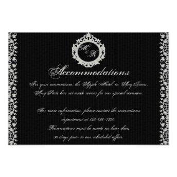 Gothic Frame Monogram Insert Personalized Invitations