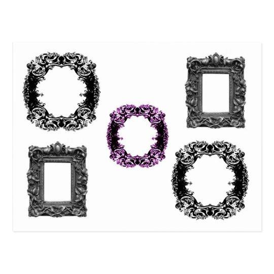 Gothic frames postcard