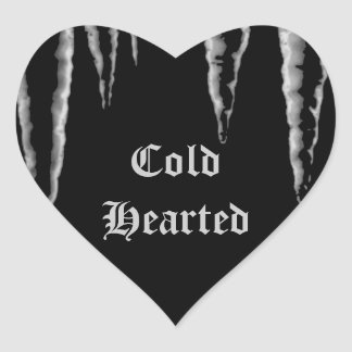 Gothic freeze Cold Hearted icicles Heart Sticker