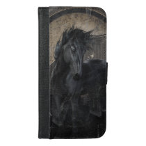 Gothic Friesian Horse iPhone 6/6s Plus Wallet Case