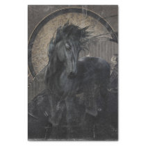 Gothic Friesian Horse Tissue Paper