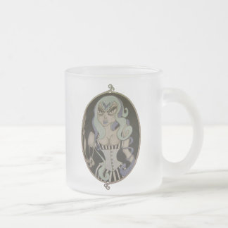 gothic frosted glass coffee mug