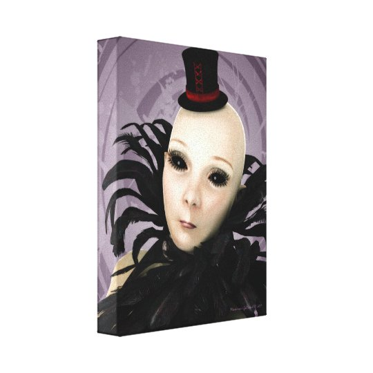 Gothic Galactic Glamour Alien Wrapped Canvas