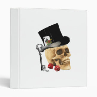 Gothic gambler skull tattoo design binder