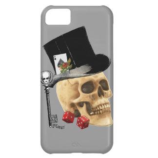 Gothic gambler skull tattoo design case for iPhone 5C