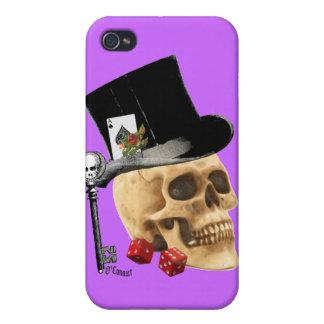 Gothic gambler skull tattoo design iPhone 4/4S cases