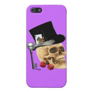 Gothic gambler skull tattoo design iPhone SE/5/5s cover