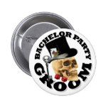 Gothic gambling grooms bachelor party button