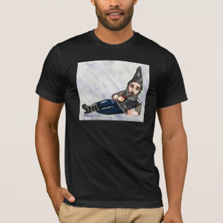 Gothic Garden Gnome W/Pipe T Shirt