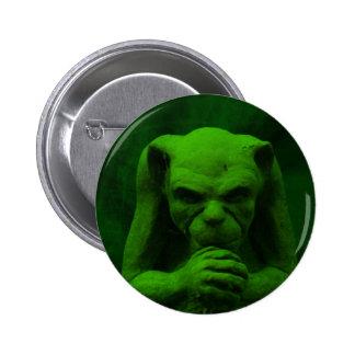 Gothic gargoyle products. pinback button