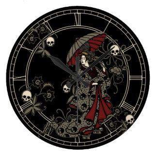 Gothic Geisha Large Clock