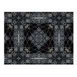 Gothic geometric design in black and gray post cards