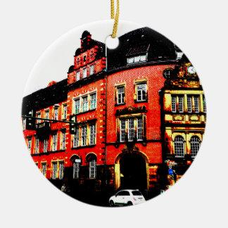gothic german building mystic view ceramic ornament