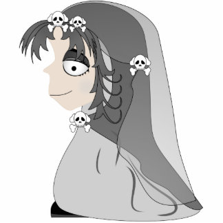 Gothic Ghost Girl Acrylic Cut Outs