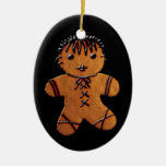 Gothic Gingerbread Cookie Christmas Tree Ornament
