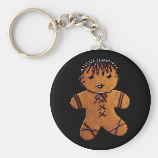 Gothic Gingerbread Cookie Keychain