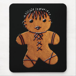 Gothic Gingerbread Cookie Mouse Pad