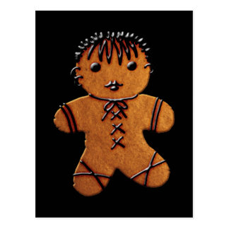 Gothic Gingerbread Cookie Postcard