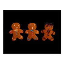 Gothic Gingerbread Man Postcard