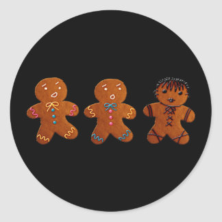 Gothic Gingerbread Man Stickers