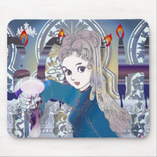 Gothic girl02 mouse pad