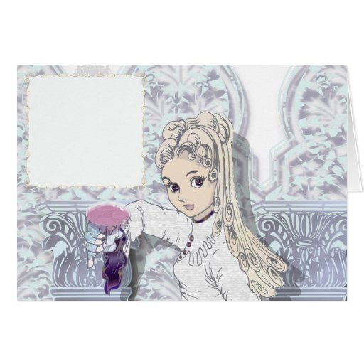 Gothic girl02b greeting card