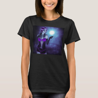 Gothic Girl and Moon T-Shirt