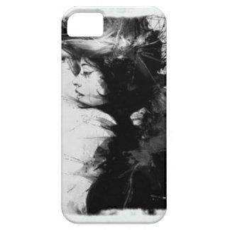 Gothic girl art iPhone SE/5/5s case