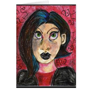 Gothic Girl Card