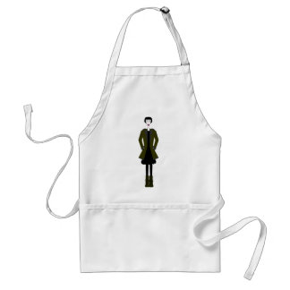 Gothic Girl Character Adult Apron