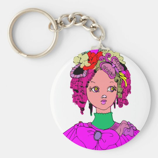 Gothic girl keychain