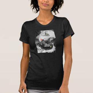 Gothic Girl Kitty T-shirts Women/Men