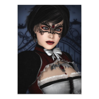 Gothic Girl with Ruby Necklace Card