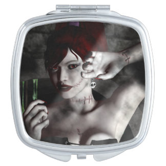 Gothic Girl Zombie Pinup Goth Compact Mirror