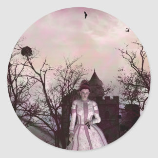 Gothic Girls All I have Left Classic Round Sticker