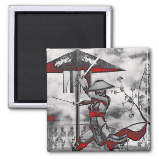 Gothic Girls Ancient Wisdom 2 Inch Square Magnet