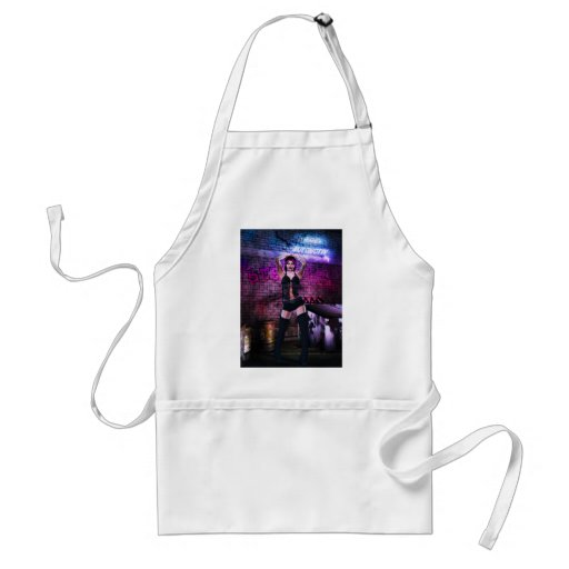 Gothic Girls Back Alley Babe Adult Apron