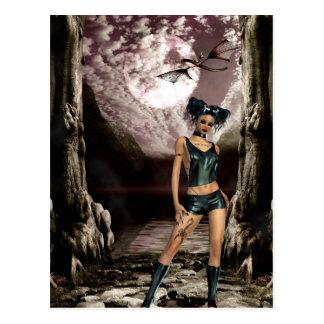 Gothic Girls Between a Rock... postcard