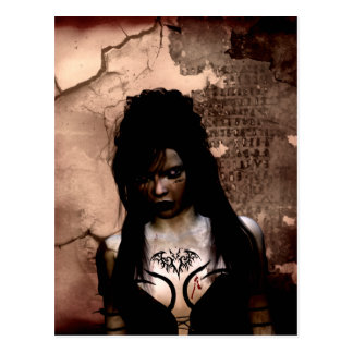 Gothic Girls Curse of the Ancients postcard