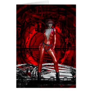 Gothic Girls Cybergoth Pin-up Greeting Card