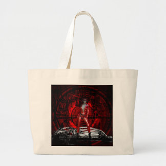 Gothic Girls Cybergoth Pin-up Large Tote Bag