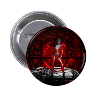 Gothic Girls Cybergoth Pin-up Pinback Button