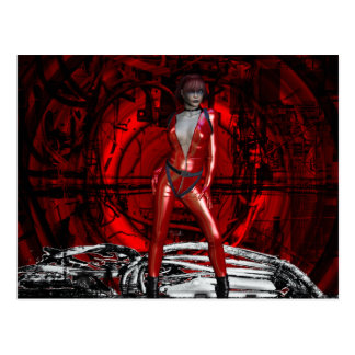 Gothic Girls Cybergoth Pin-up Postcard
